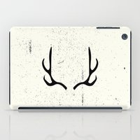antlers iPad Cases featuring Antlers by Kimberly Jones