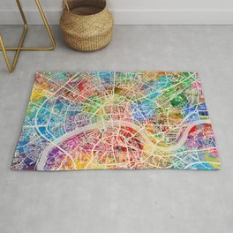 Cologne Germany City Map Rug