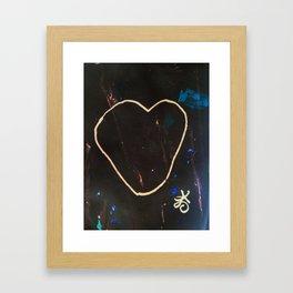 Heart Valentine. Be Mine. Literally. Framed Art Print