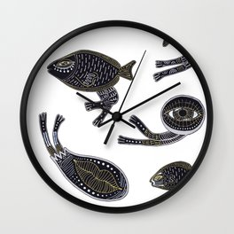 underwater surreal creatures Wall Clock
