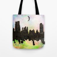 new york Tote Bags featuring new York  new York  by mark ashkenazi