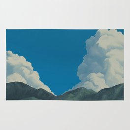 Puffy Anime-style Clouds Rug