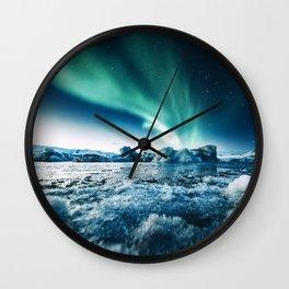 jokulsarlon lagoon Wall Clock