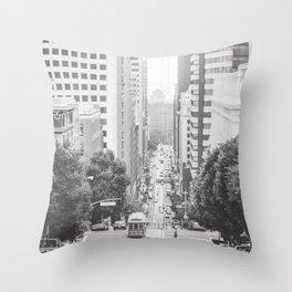 Steep Hills in San Francisco Throw Pillow