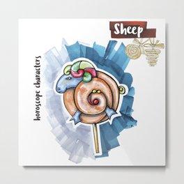Sheep Horoscope Metal Print