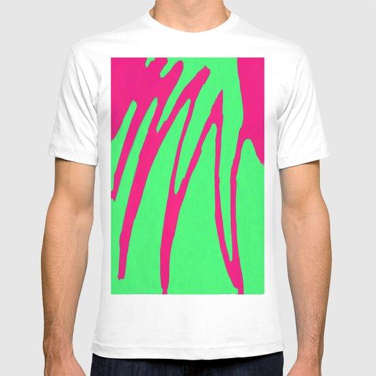 Green Pink Pattern T-shirt