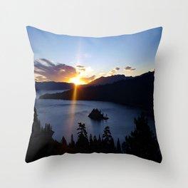Sunrise at Emerald Bay Throw Pillow