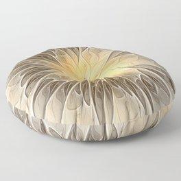 Floral Dream, Abstract Fractal Art Floor Pillow