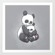 Panda Hug Art Print