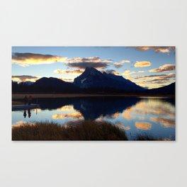 Vermillion Lakes Sunset Canvas Print