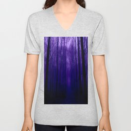 Deep Purple Forest Unisex V-Neck