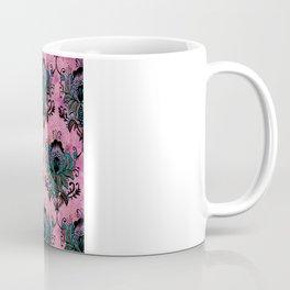 Pink Lotus Damask Coffee Mug