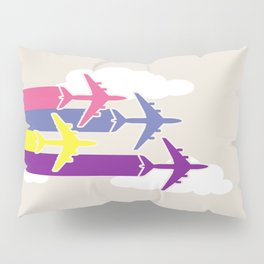 Colorful airplanes Pillow Sham