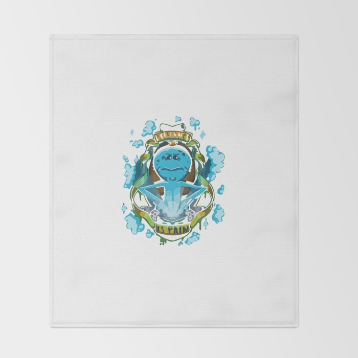 EXISTENCE IS PAIN Throw Blanket
