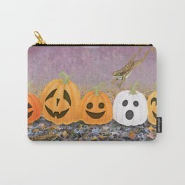 wood frogs, smiling pumpkins, & ghost clouds Carry-All Pouch