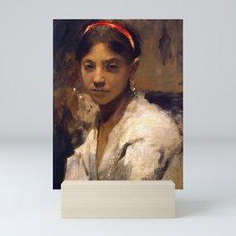 "John Singer Sargent ""Head of a Capri Girl"" Mini Art Print"