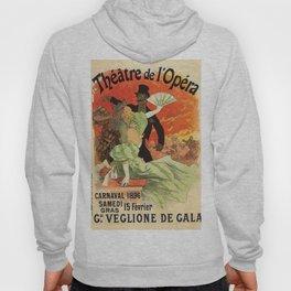 Th Tre De L Op Ra Carnaval 1896 Grand Veglione De Gala 1896 By Jules Cheret | Reproduction Art Nouve Hoody