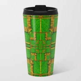 golden green and  sunshine pop-art Travel Mug