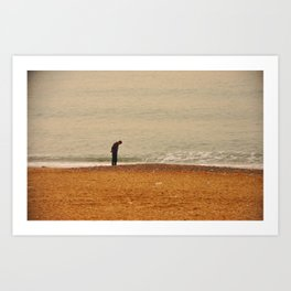 Beach Contemplation Art Print