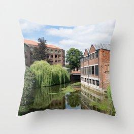 River Foss York Throw Pillow