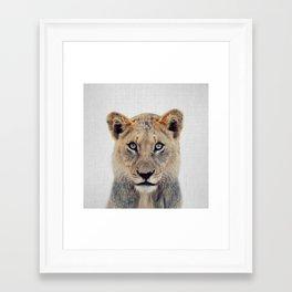 Lioness II - Colorful Framed Art Print