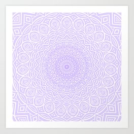 Purple Violet Mandala Design Extra Detailed Geometric Ethnic Tribal Pattern Art Print