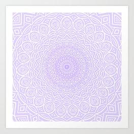 Purple Violet Mandala Design Extra Detailed Geometric Ethnic Tribal Pattern Art Print