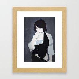 the dark-vested coquette Framed Art Print