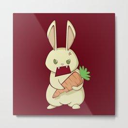 Angry Bunny Metal Print