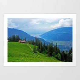 Above Interlaken Art Print