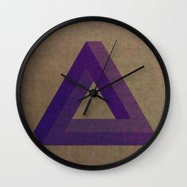 Purple Penrose Wall Clock