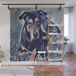 Black and Tan Coonhound Puppy Wall Mural