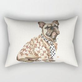Super trendy French Bulldog / High Fashion Dog Rectangular Pillow