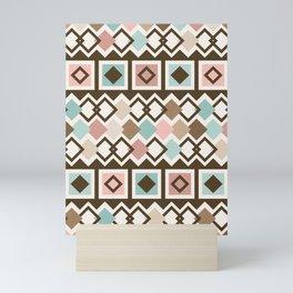 Mid Century Modern Mud Cloth Geometric // Desert Colors Mini Art Print