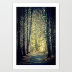 Licht am Ende des Weges Art Print
