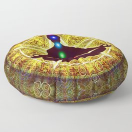 In Meditation With Chakras - Spiritual I Floor Pillow