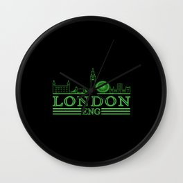 London Skyline England City Silhouette Travel City Wall Clock