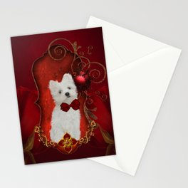 Cute little maltese puppy Stationery Cards