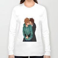 larry stylinson Long Sleeve T-shirts featuring larry violet nature by mrsadfran