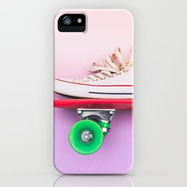 skateboard and sniker iPhone Case