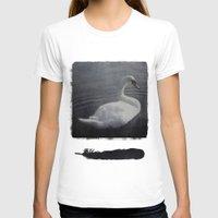 swan T-shirts featuring Swan by AraNaja