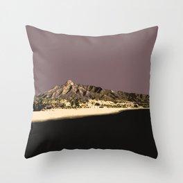 Marbella Mocha Throw Pillow