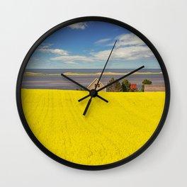 Bright Canola Wall Clock