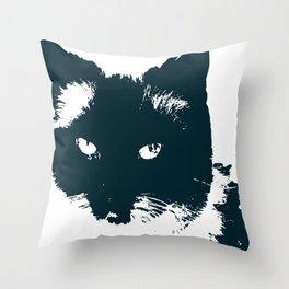 cat nature design animal skin Throw Pillow