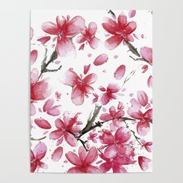 Cherry Blossoms #society6 #buyart Poster