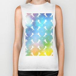 rainbow unicorn galaxy Biker Tank