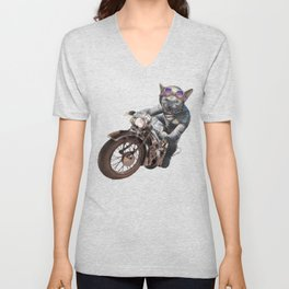 Cat Racer Unisex V-Neck