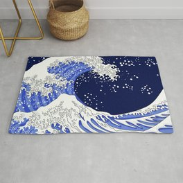 Great Blue Wave Rug