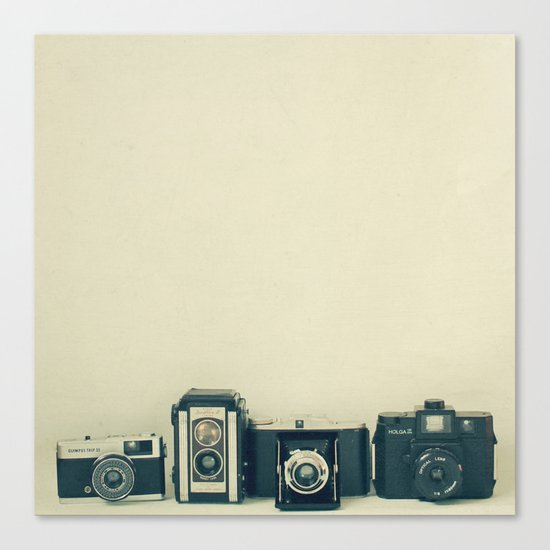 Camera Collection Canvas Print