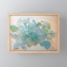 Ocean Hue Sea Glass Framed Mini Art Print